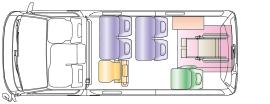 伊藤タクシー車両内の概略図