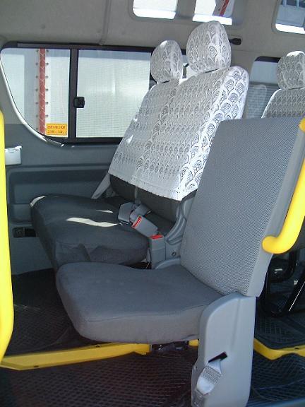 2列目座席の写真。